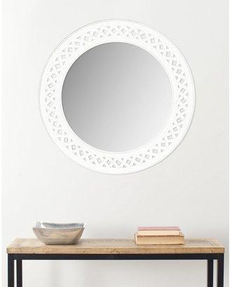 """Safavieh Braided Chain White 24-inch Round Decorative Mirror - 24"""" x 24"""" x 0.8"""""""