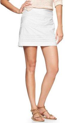 Gap Eyelet-stripe mini skirt