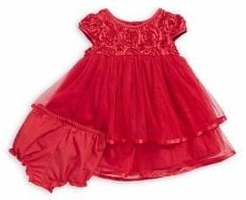 Pippa & Julie Baby Girl's Two-Piece Dress Bloomers Set