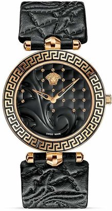 Versace Vanitas Rose Gold PVD Watch with Black Enamel Dial, 40mm $1,795 thestylecure.com