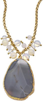 Janna Conner Designs Designs Gold Agate and Bead Cluster Pendant Necklace