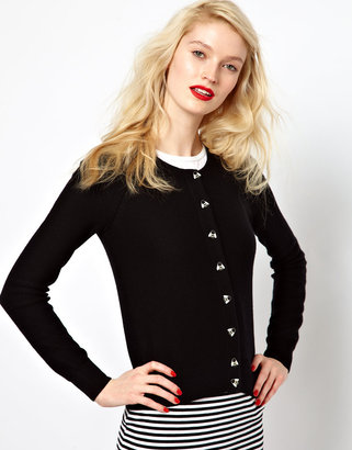 Sonia Rykiel Sonia by Cashmere Mix Cardigan with Bee Buttons