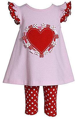 Bonnie Jean 2T-4T Valentine Dress & Leggings Set