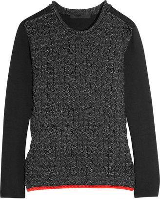 Alexander Wang Honeycomb-knit cotton-blend sweater