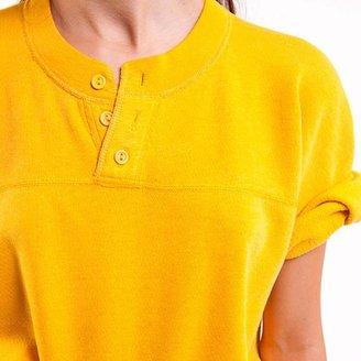 Denim Refinery The Yellow Henley Sweatshirt Tee