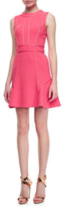Marc by Marc Jacobs Leyna Dotted-Ponte Sleeveless Dress