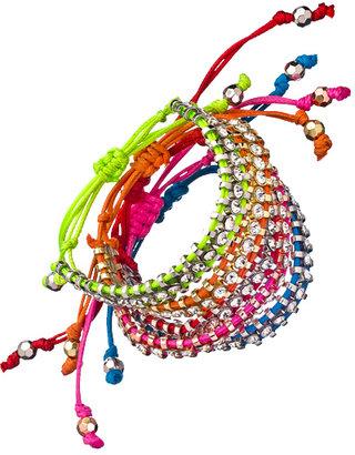 Blu Bijoux Crystal Link Macrame Bracelets
