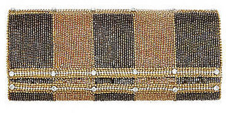 Deepa Gurnani Beaded Vertical Stripe Flap Clutch