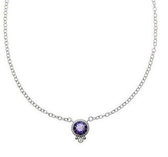 Judith Ripka Sterling Choice of Birthstone Necklace