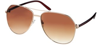 Jeepers Peepers Rick Aviator Sunglasses - Gold