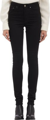 Acne Studios High-Rise Skinny Jeans-Black