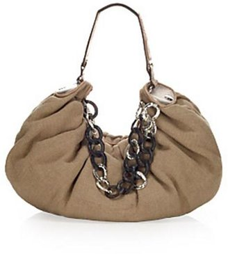 Juicy Couture Linen Link All Nighter Bag