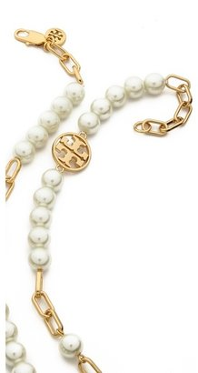 Tory Burch Tilde Logo Rosary Necklace