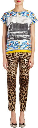Dolce & Gabbana Temple-print Short-sleeve Top