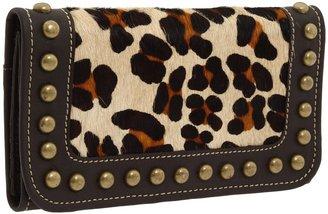 American West Santa Fe Spirit Wallet (Leopard Print) - Bags and Luggage