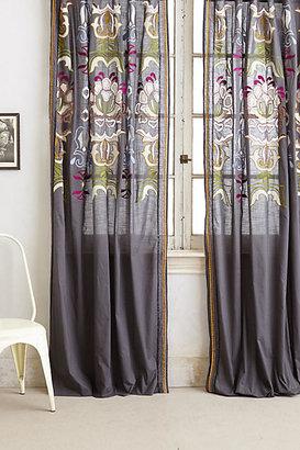 Anthropologie Safia Embroidered Curtain
