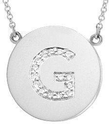 Jennifer Meyer Diamond Letter Necklace - G - White Gold