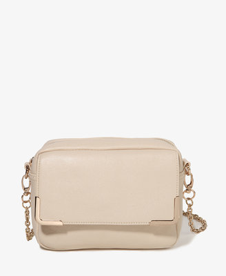 Forever 21 Punchy Metal Trim Shoulder Bag