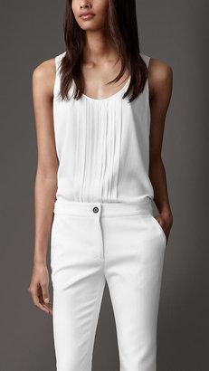Burberry Pleated Silk Vest