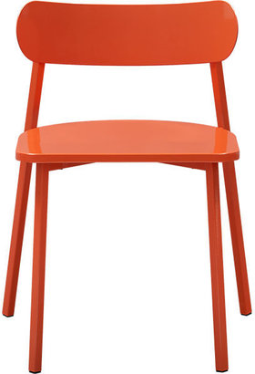 CB2 Fleet Hot Orange Chair