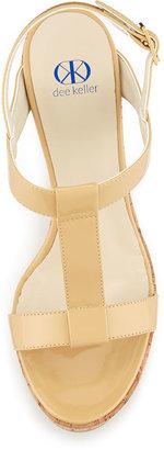 Dee Keller Erin Cork Leather Wedge, Nude