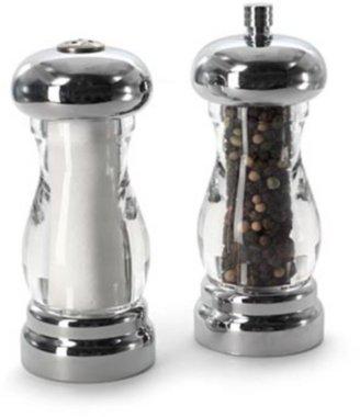Olde Thompson Lucite & Chrome Salt & Pepper Set