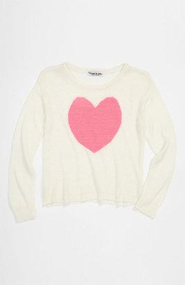 Flowers by Zoe 'Heart' Sweater (Big Girls)