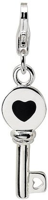 Amore La Vita Sterling Dimensional Black & White Key Charm