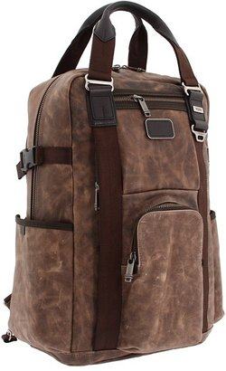 Tumi Alpha Bravo - Lejune Backpack Tote Leather (Brown) - Bags and Luggage