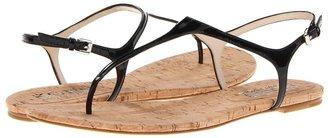 KORS Joni (Black Patent/Cork) - Footwear