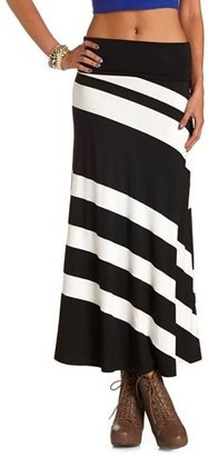 Charlotte Russe Striped Knit Maxi Skirt