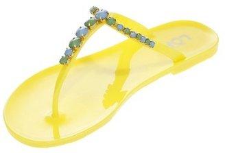 LOFT Embellished T-Strap Jelly Flip Flops