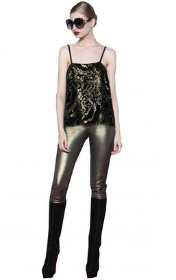 Alice + Olivia Parker Embroidered Tank Top