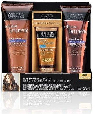 John Frieda Brilliant Brunette Shine Release and Shine Shock Special Pack, Moisturizing