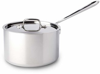 All-Clad Stainless Steel 4 Quart Sauce Pan with Lid