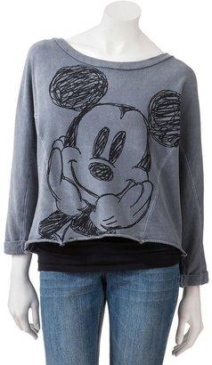 Mickey mouse sketch drawing sweatshirt