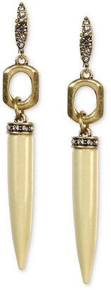 Rachel Roy Earrings, Worn Gold-Tone Ivory-Colored Spike Linear Drop Earrings