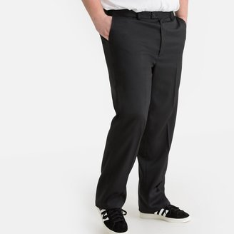 """La Redoute Collections Plus Straight Trousers with Adjustable Waist, Length 37"""""""