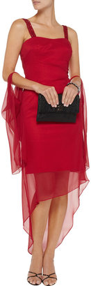 Mikael Aghal Beaded silk-crepe dress
