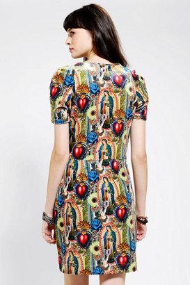 Urban Outfitters Hi! Expectation Lupe Velvet Dress