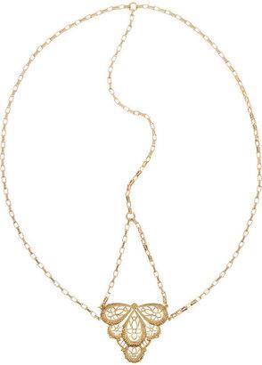 Jennifer Behr Gold-tone filigree headpiece