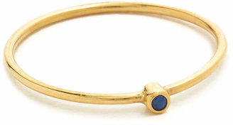 Jennifer Meyer Jewelry Thin Ring With Sapphire