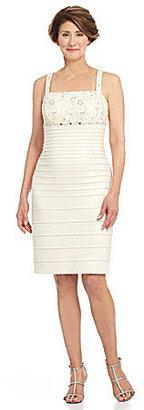KM Collections Short-Sleeve Bolero Jacket Dress