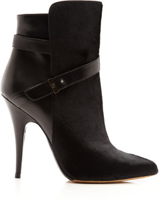 Tabitha Simmons Hunter Leather and Calf Hair Ankle Boots