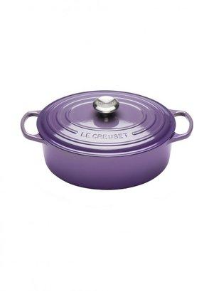 Le Creuset Signature Cast Iron Oval Casserole 29cm Ultra Violet