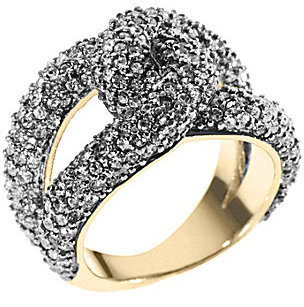 Michael Kors Modern Classic Twisted Pave Ring