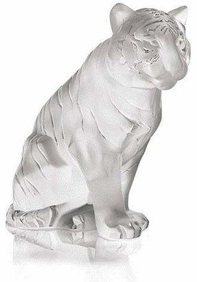 Lalique Sitting Tiger Small, Clear by