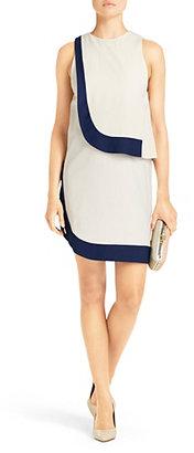 Diane von Furstenberg Robi Two Tone Dress In Haystack/new Denim