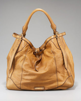 Burberry Belted Lambskin Hobo Large