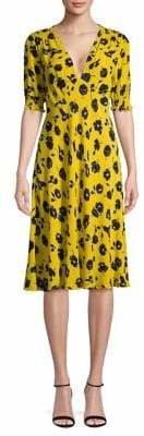 Diane von Furstenberg Floral-Print Fit--Flare Dress